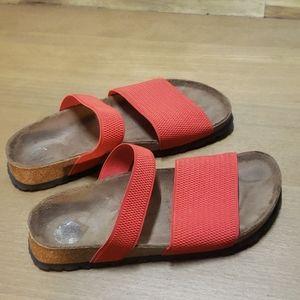 Birkenstock birki curacao red slide sandals 6.5?
